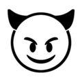 Emoji - Smiling Devil Stencil