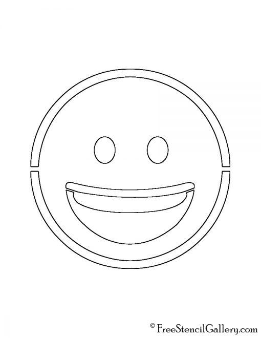 Emoji - Smiling Stencil