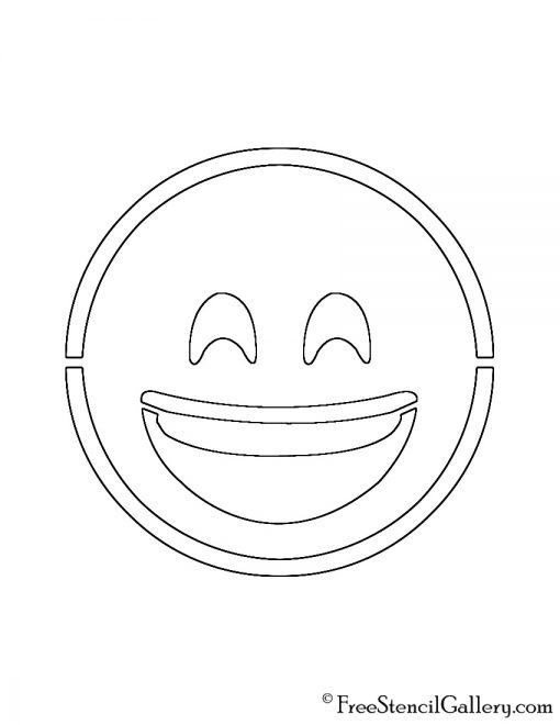 Emoji - Smiling with Smiling Eyes Stencil