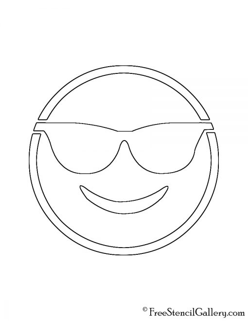 Emoji sunglasses stencil free stencil gallery for Emoji pumpkin template
