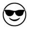 Emoji - Sunglasses Stencil