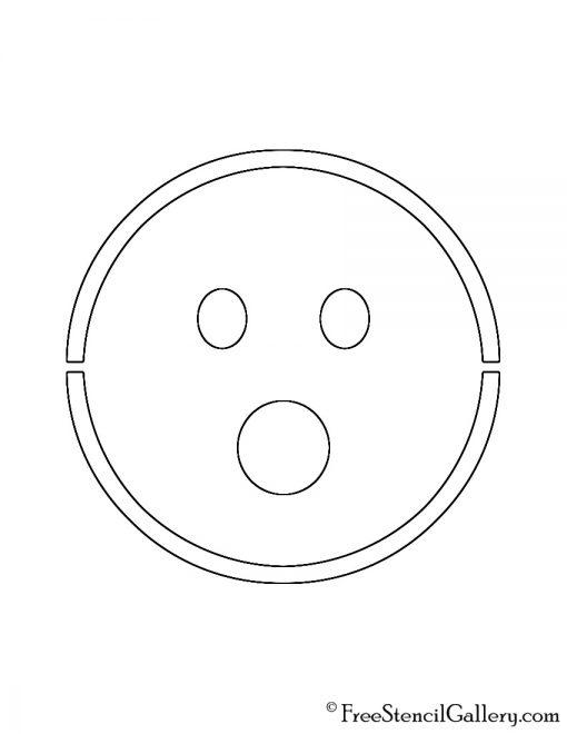 Emoji - Surprised Stencil