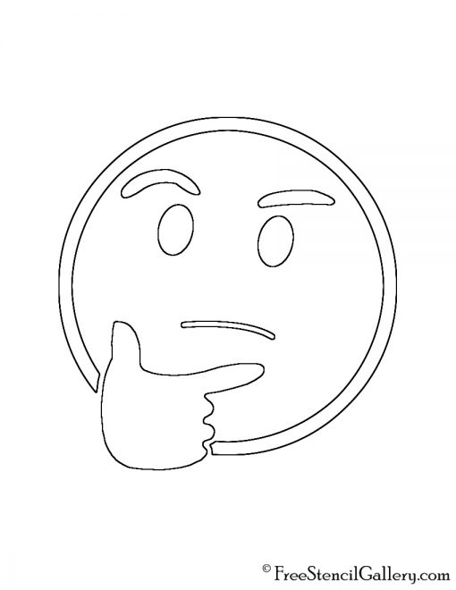 Emoji thinking stencil free stencil gallery for Emoji pumpkin template