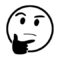 Emoji - Thinking Stencil