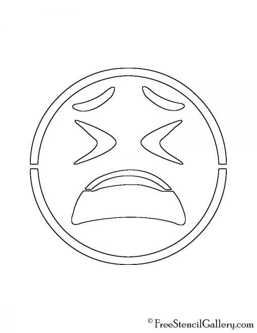Emoji - Weary Stencil