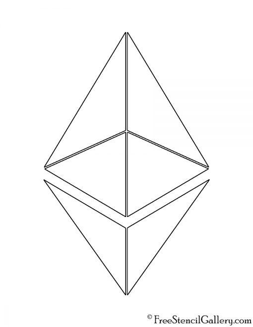 Ethereum Symbol Stencil