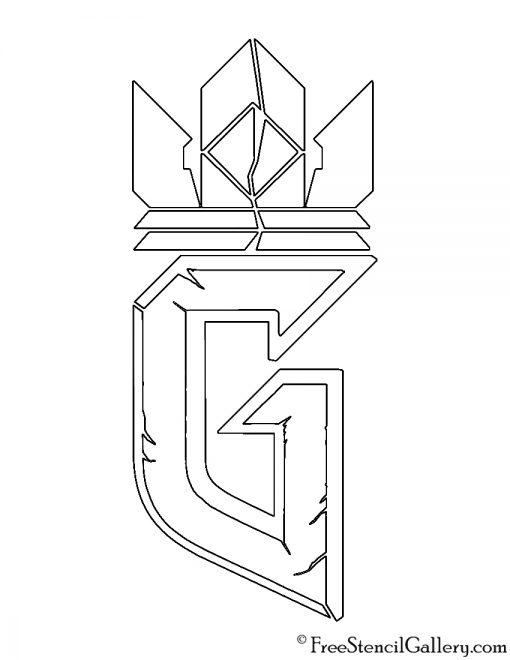 Gwent Logo Stencil