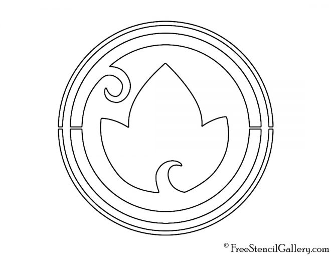 Lego - Elves Earth Symbol Stencil