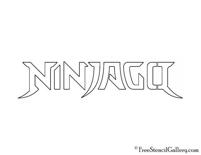 Lego - Ninjago Logo Stencil