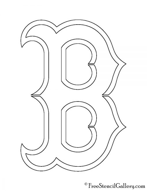 MLB - Boston Red Sox Logo Stencil
