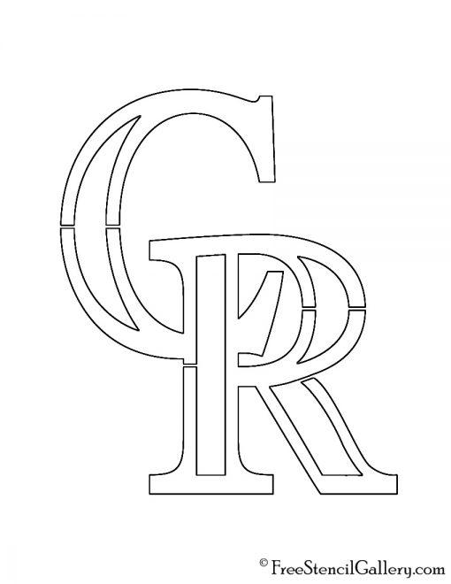 MLB - Colorado Rockies Logo Stencil