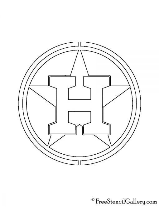 MLB - Houston Astros Logo Stencil
