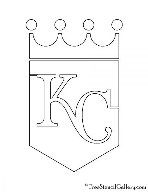 MLB - Kansas City Royals Logo Stencil