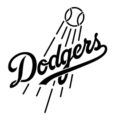 MLB - Los Angeles Dodgers Logo Stencil