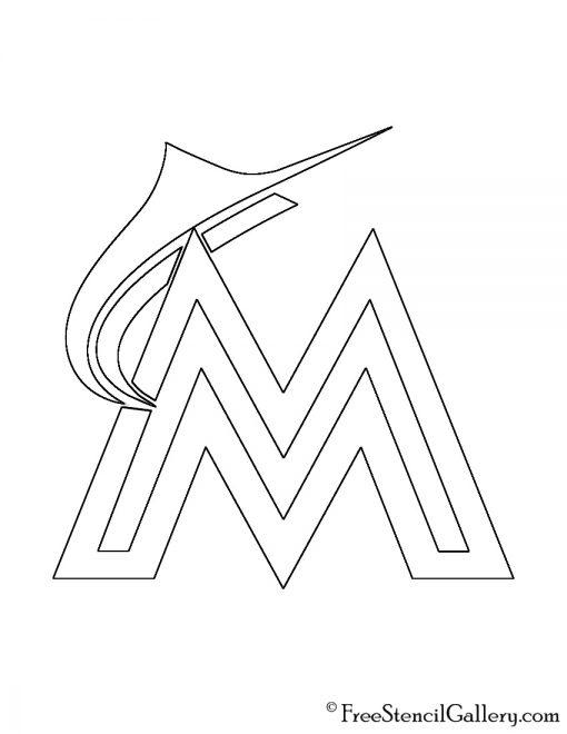 MLB - Miami Marlins Logo Stencil