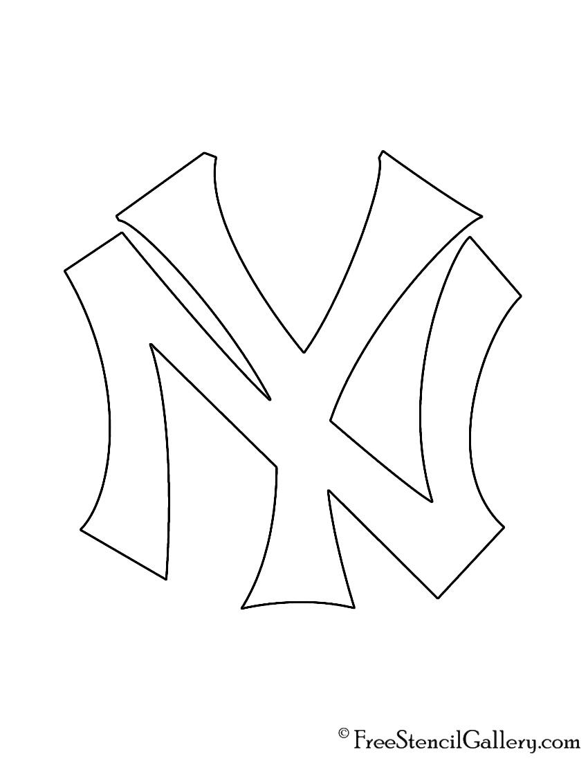 Mlb new york yankees logo stencil free stencil gallery mlb new york yankees logo stencil biocorpaavc