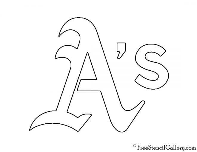 MLB - Oakland Athletics Logo Stencil