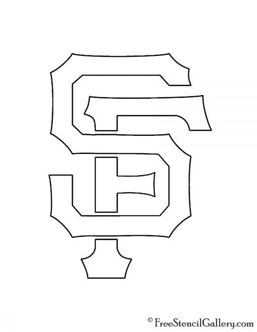 MLB - San Francisco Giants Logo Stencil