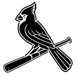 mlb st louis cardinals logo stencil free stencil gallery
