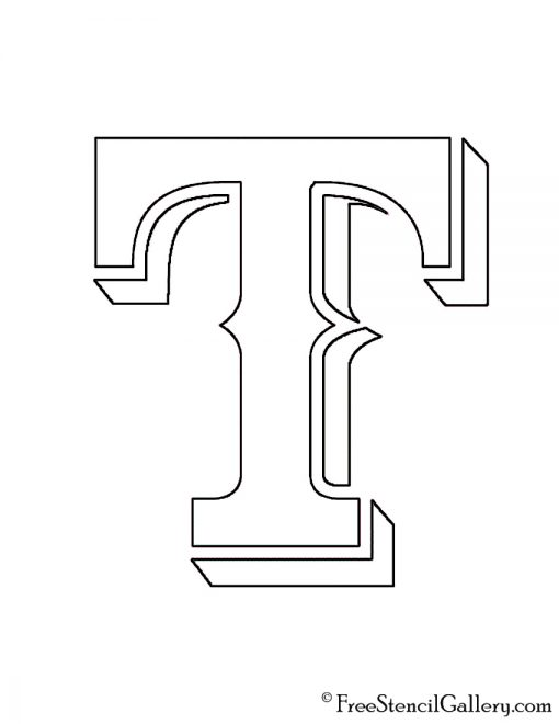 MLB - Texas Rangers Logo Stencil