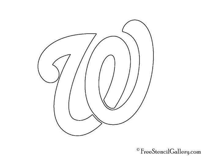 MLB - Washington Nationals Logo Stencil