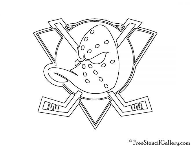 NHL - Anaheim Mighty Ducks Logo Stencil