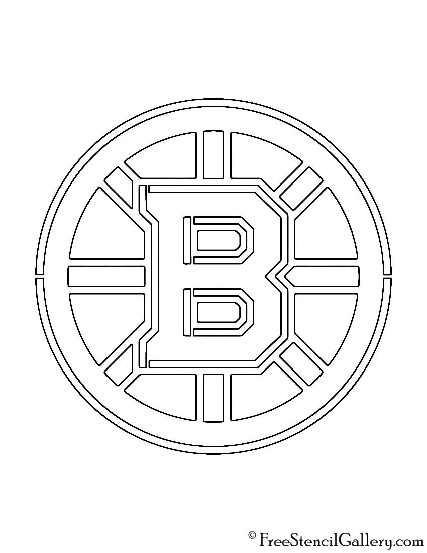 Nhl boston bruins logo stencil free stencil gallery nhl boston bruins logo stencil voltagebd Image collections
