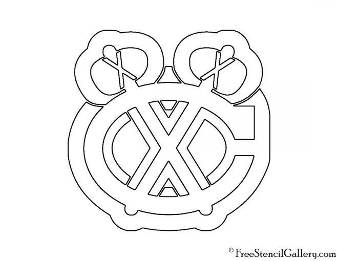 NHL - Chicago Blackhawks Logo Stencil