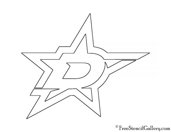 NHL - Dallas Stars Logo Stencil