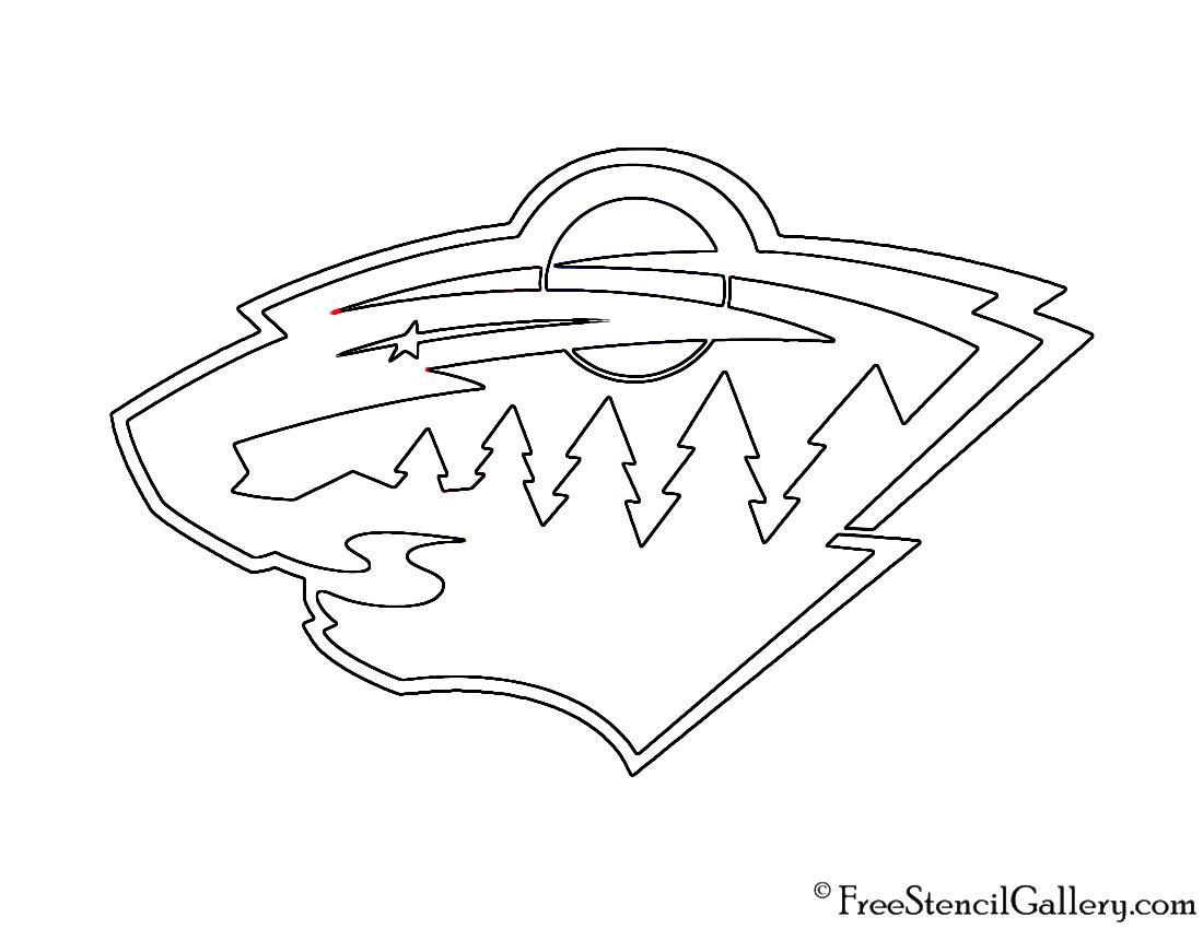 minnesota wild logo coloring page minnesota wild logo cake