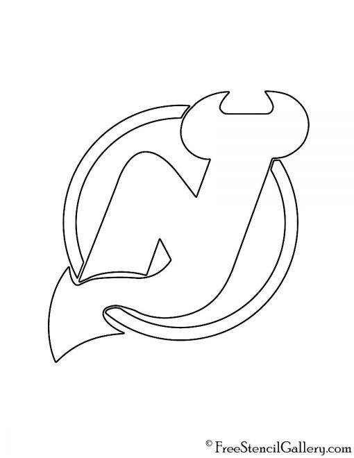 NHL - New Jersey Devils Logo Stencil