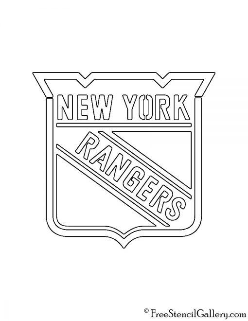 NHL - New York Rangers Logo Stencil