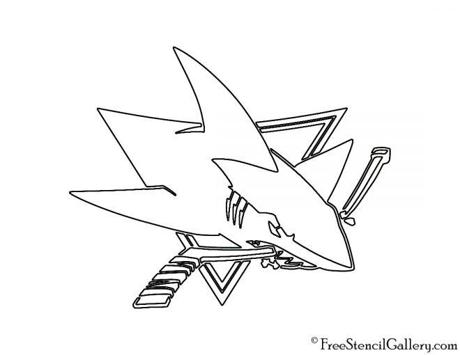NHL - San Jose Sharks Logo Stencil