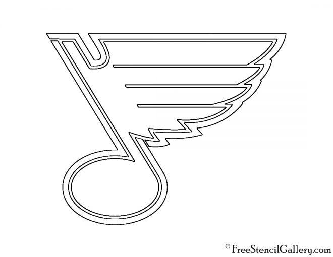 NHL - St Louis Blues Logo Stencil