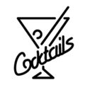 Neon Sign - Cocktails Stencil