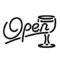 Neon Sign - Open Bar Stencil