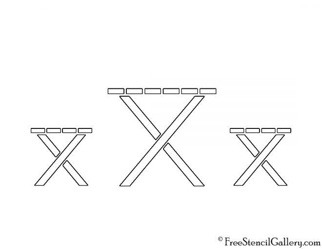 Picnic Table Stencil