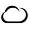 Weather Icon - Cloud Stencil