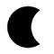 Weather Icon - Moon Stencil