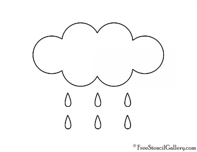 Weather Icon - Rain Stencil