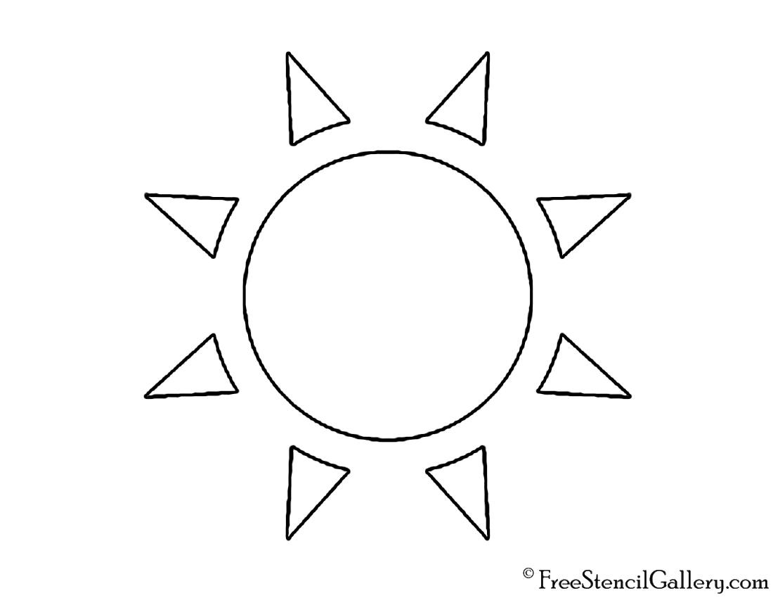 Sun Free Stencil Gallery