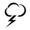 Weather Icon - Thundercloud 01 Stencil