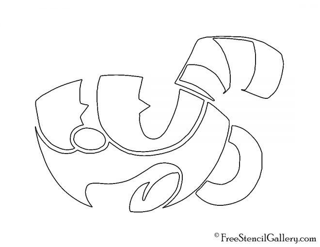 Cuphead Stencil 01