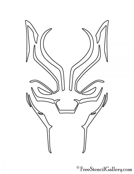 Black Panther 01 Stencil